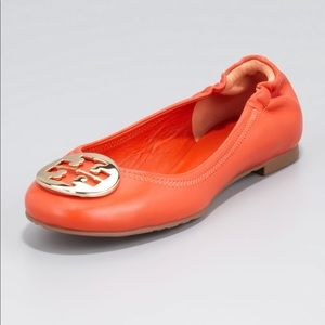 Tory Burch Reva Flat Orange Size 9